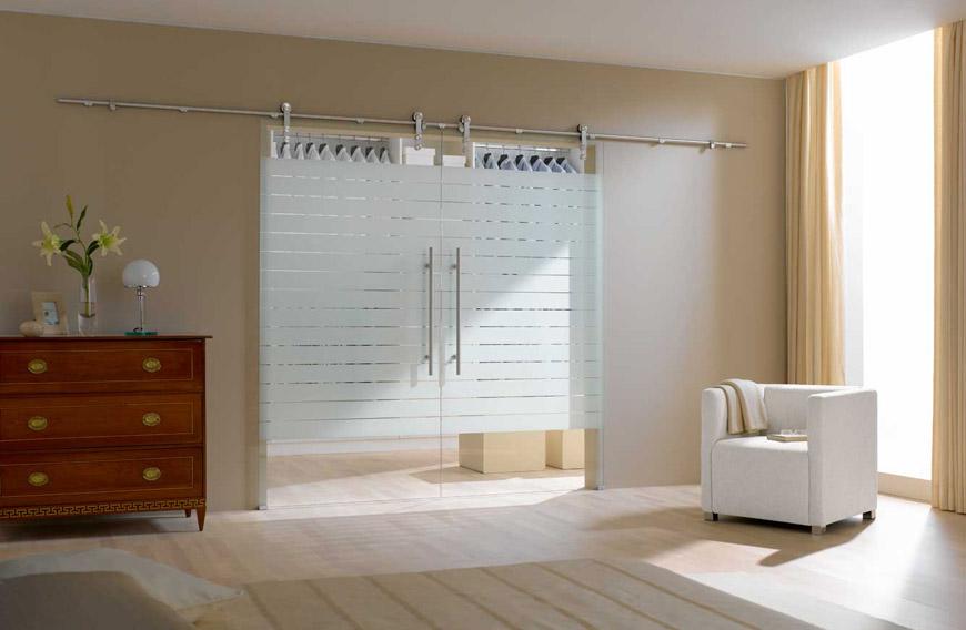 Glasservice Van Der Kroft  u2013 Glazen wand met schuifdeuren