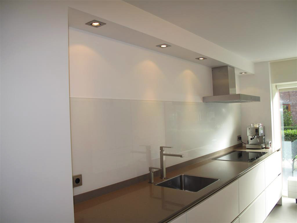 Led Inbouwspots Keuken : Glasservice Van Der Kroft ? Achterwand in keuken